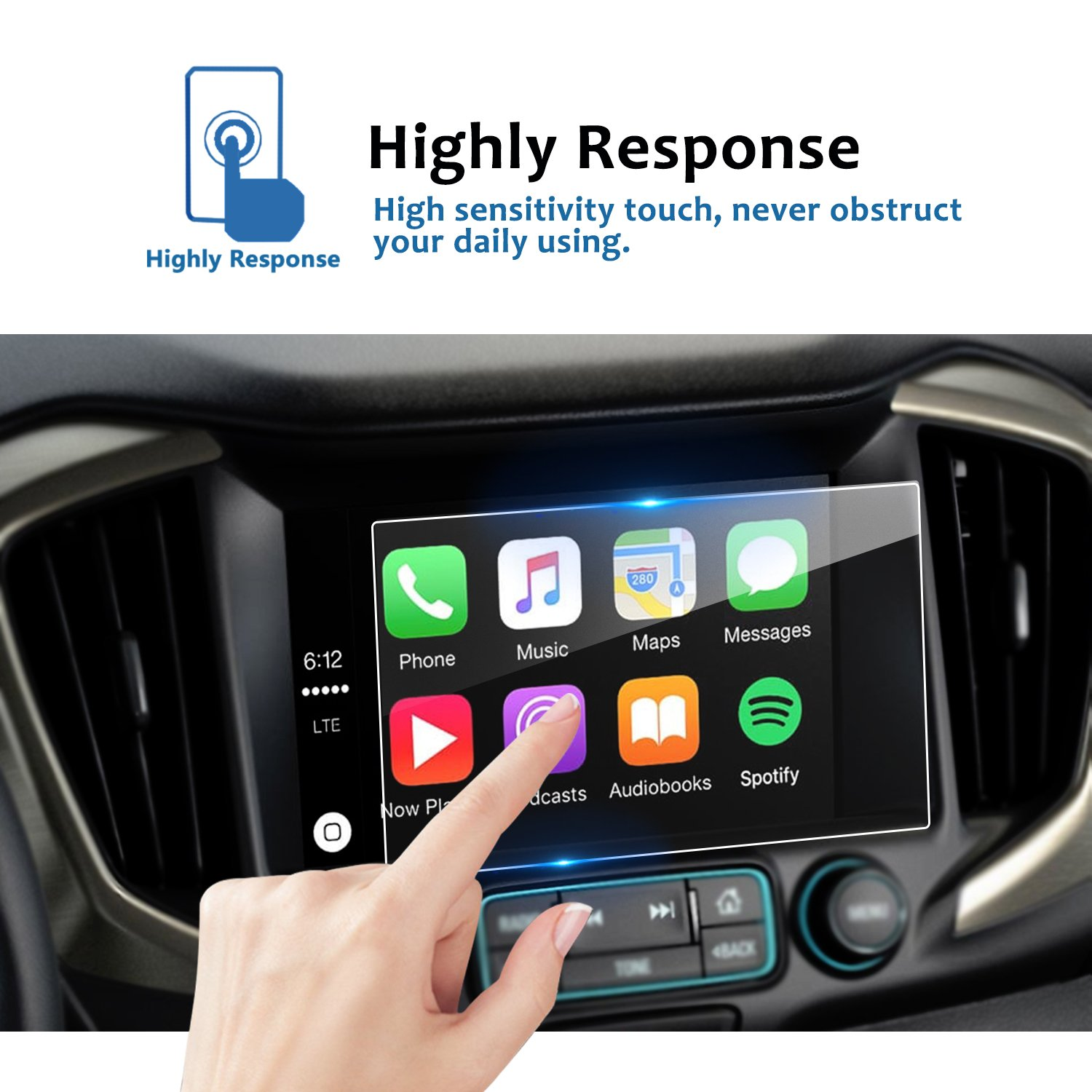 9H Tempered Glass Infotainment Screen Center Touch Screen Protector Anti Scratch High Clarity LiFan US01CM1418 Kia Soul 8Inch LFOTPP Car Navigation Screen Protector Compatible for Soul 2014-2018 8 Inch,