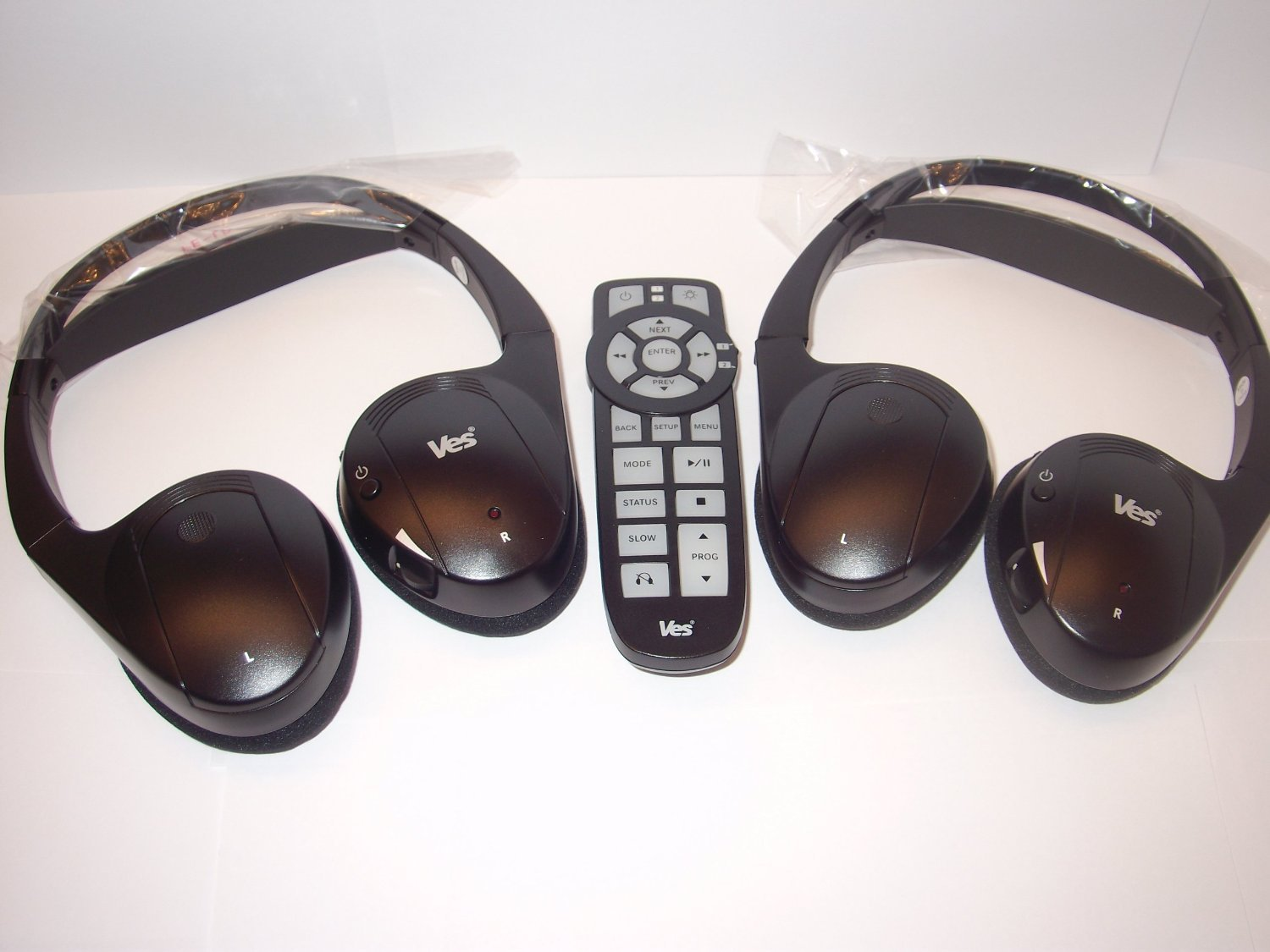 Amazon.com: Chrysler Town and Country DVD Headphones Headsets (Set of Two)  and One Remote Control 2008 2009 2010 2011 2012 2013: Car Electronics