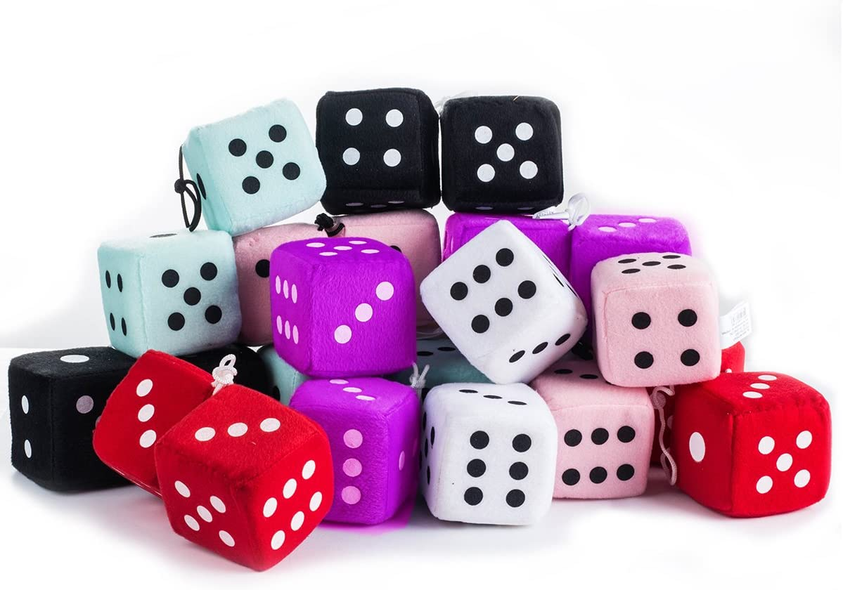 Tigerdoe 50s Party Decorations - Hanging Dice for 50's parties 12 Plush Accessories by