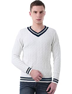95f653143e25f0 uxcell Men V Neck Cable Pattern Ribbed Long Sleeves Pullover Knitted Sweater