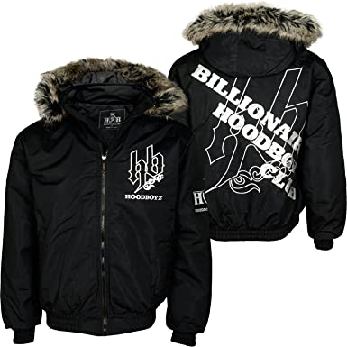 lebendig und großartig im Stil große Auswahl an Farben und Designs suche nach dem besten Hoodboyz Billionaire Club Winterjacke Schwarz Weiß