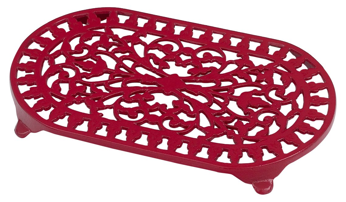 Victor Large Oval Trivet in Chilli Red VCW315R