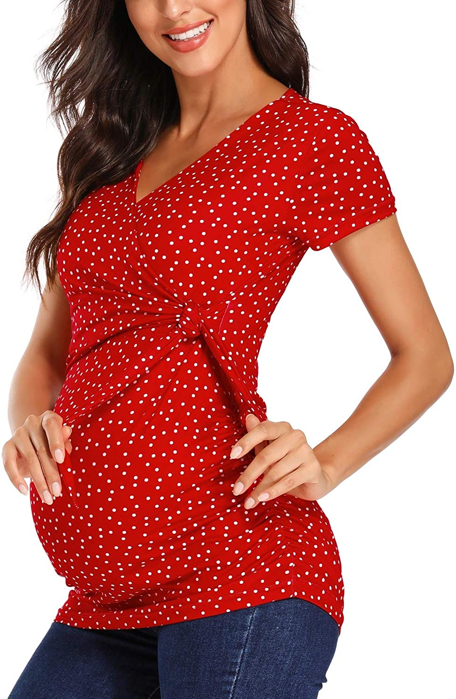 Glampunch Women S Maternity Shirts Short Long Sleeve V Neck Comformation Cute Maternity Tops At Amazon Women S Clothing Store