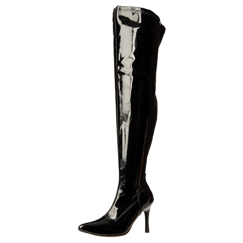 96e5fbcbb53 Funtasma 3 3/4 Inch High Heel Boots Wide Calf Boots Thigh High Pointed Toe