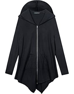 e339e142cf2 Urban CoCo Women s Pluse Size Hooded Sweatshirt Jacket Cape Style