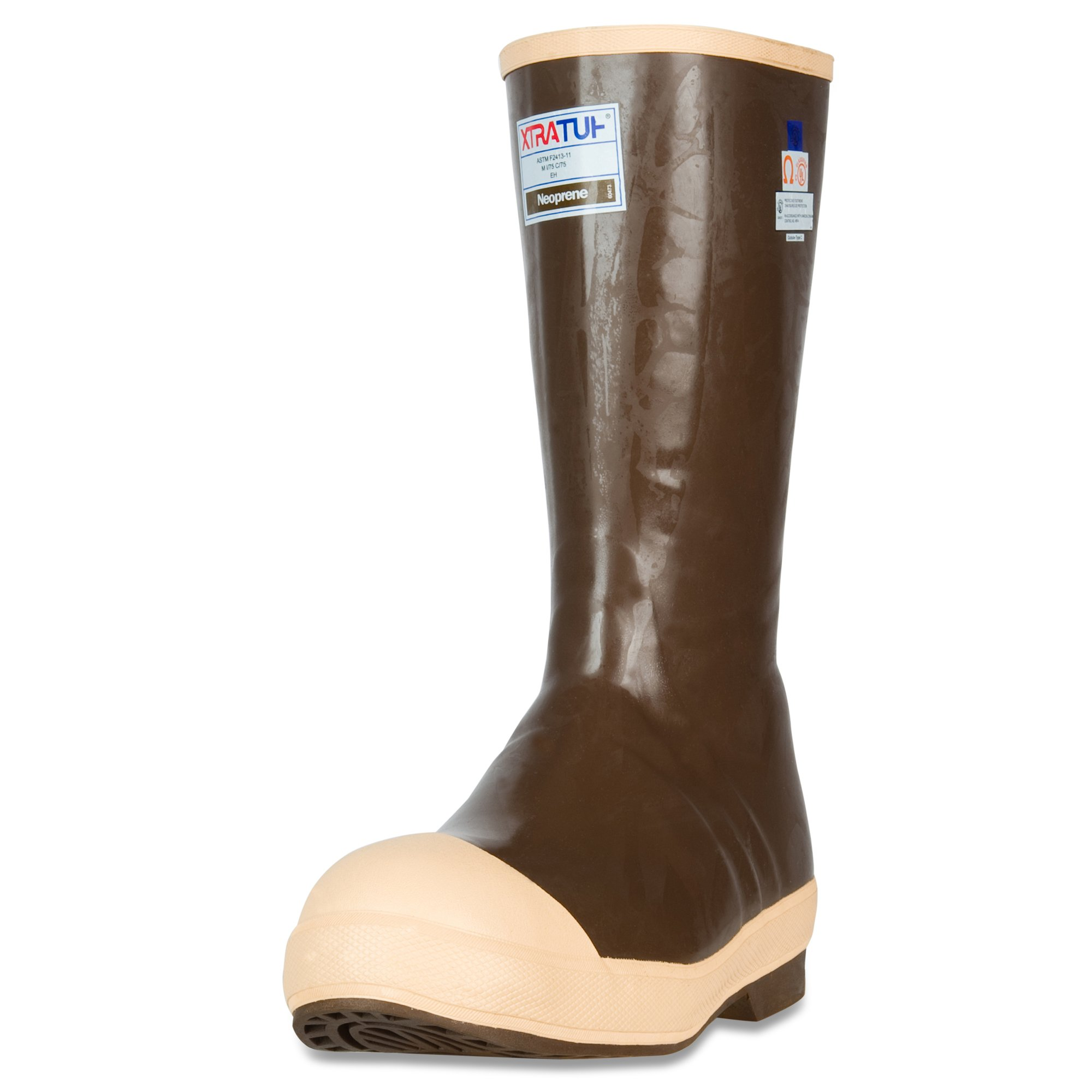 XTRATUF Legacy Series 15'' Neoprene Steel Toe Insulated Men's Fishing Boots, Copper & Tan (22273G)