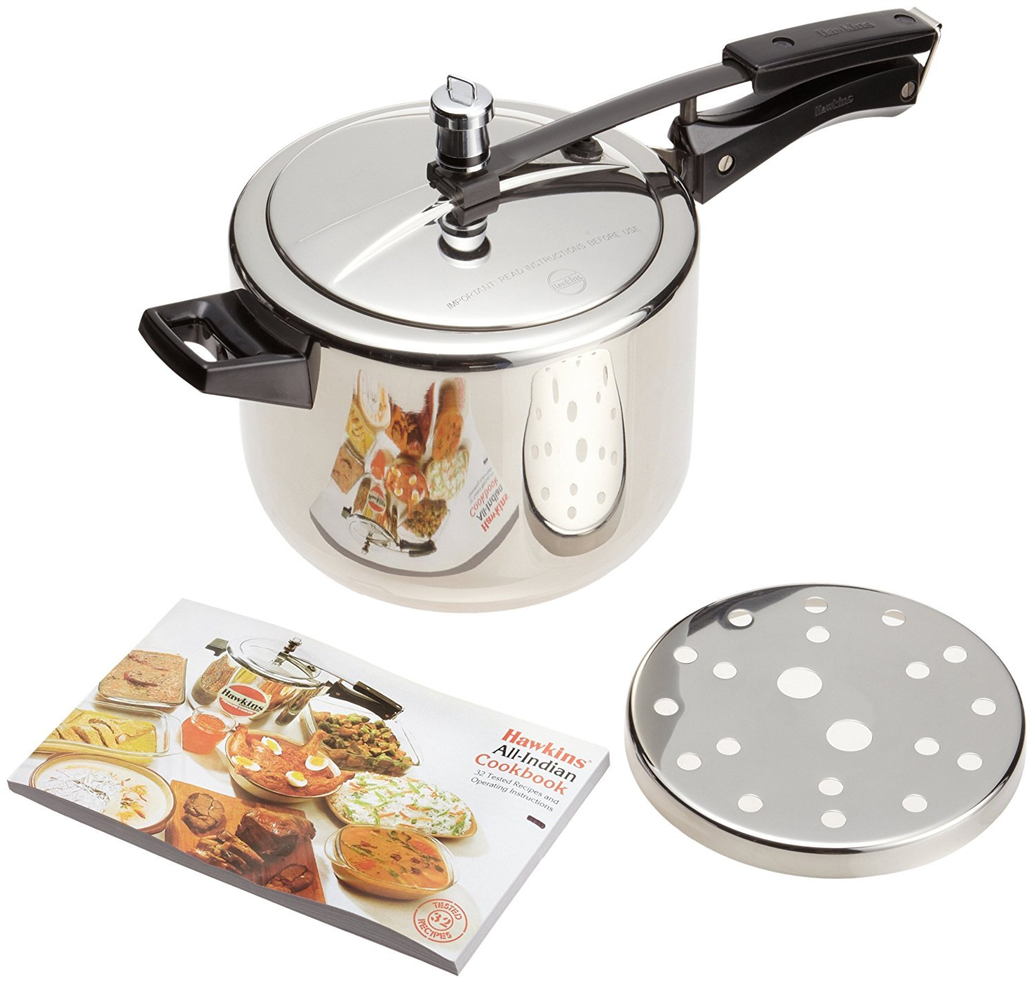 Hawkins Stainless Steel Pressure Cooker Induction Compatible (2 Litre Code: B25)