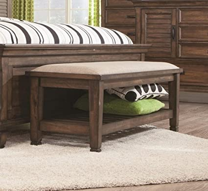 Coaster 200977 CO Bedroom Bench, Burnished Oak