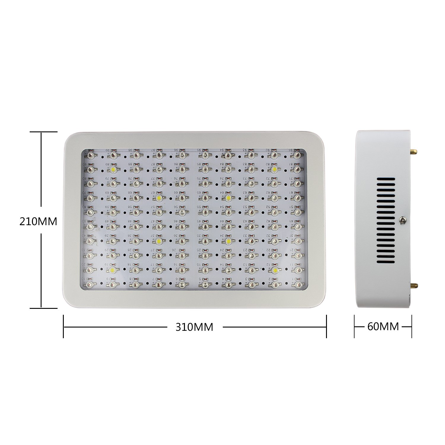 RYSA LIGHT LED Indoor Grow Light 1000W Full Spectrum Double Chips Growing Lamps with UV IR for Garden Plants Veg Flower Hydroponic Greenhouse by RYSA LIGHT (Image #2)