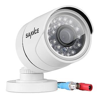 SANNCE Cámara de Seguridad exterior de Vigilancia(1x 720P TVI Camara CCTV IR-CUT Visión Nocturna 100ft/30m IP66) Seguridad para Hogar: Amazon.es: ...