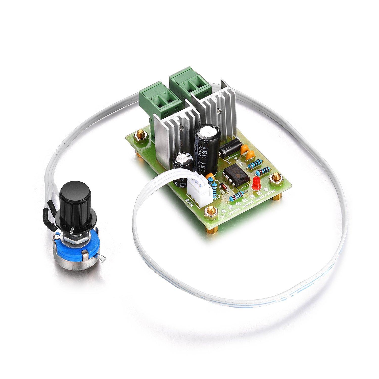 Aweking DC12-36V 12V 24V 36V 5A Motor Speed Controller,PWM,Adjustable Driver,Max200W,No Reversing Switch,0%-100% Speed Controlling,Brush Motor