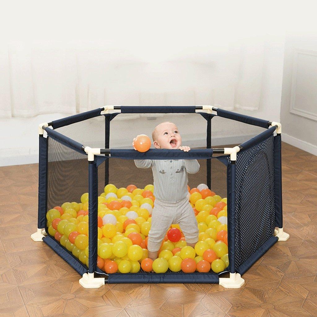 子供のおもちゃポータブルベビーおもちゃフィールド子供のゲームフェンスホームベビーボールプール ( 色 : 青 , サイズ さいず : 1.8M ) B073P8V115 青 1.8M