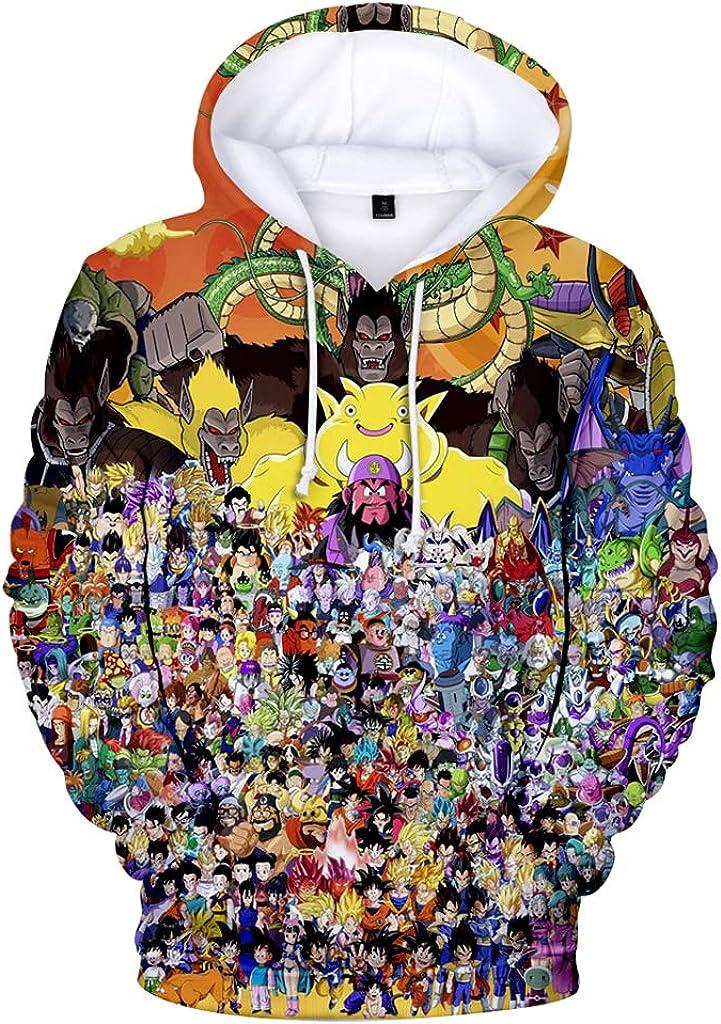 Dragon Ball Serie de Hombres de Chaqueta con Capucha de Niño Manga Larga con Capucha