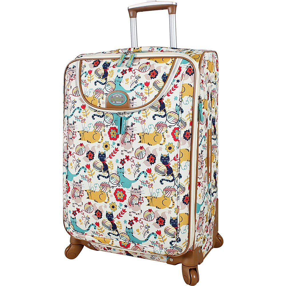 Lily Bloom Luggage 24 Expandable Design Pattern Suitcase With Spinner Wheels For Woman 24in, Furry Friends
