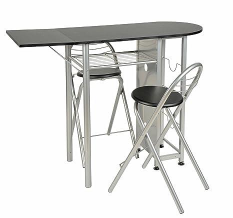 Sgabelli E Tavoli Alluminio.Ts Ideen Set 3 Pezzi Tavolo Estendibile E 2 Sgabelli In