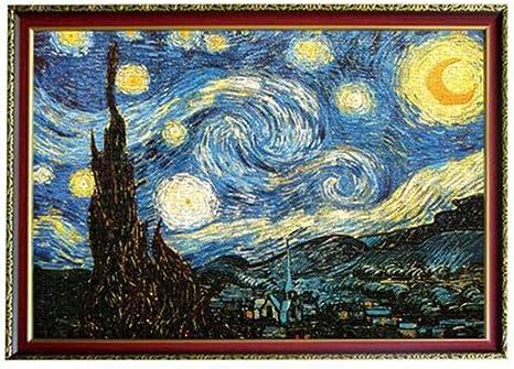 Jigsaw Puzzle Landcape 1000 Pieces Van Gogh Starry Sky Famous Painting Puzzle