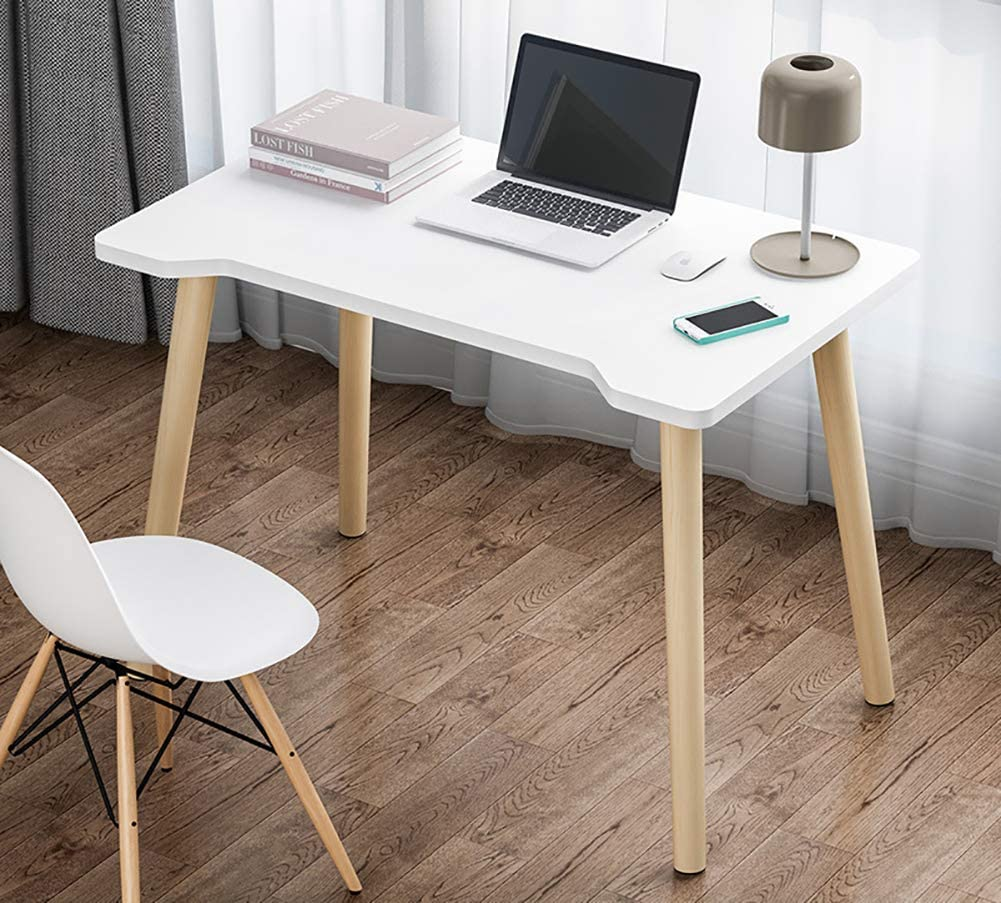 Modern Solid Wood Computer Desk,Workstation Sturdy Office Desk Ergonomic Laptop Table Writing Table for Home Office