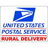 U.S. Mail Rural Delivery Magnetic Car Sign - 9x12