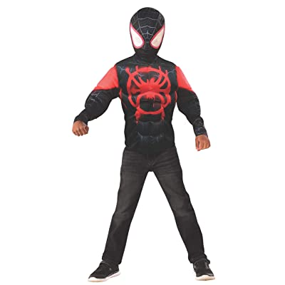 Imagine by Rubie's Miles Morales Muscle Chest Shirt Set, Small: Toys & Games