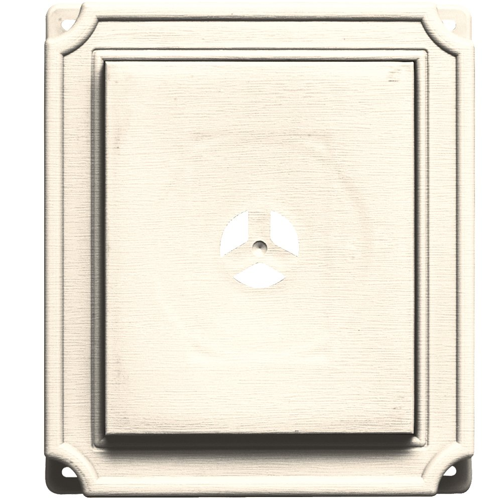 Builders Edge 130110001021 Scalloped Mounting Block 021, Sandstone Beige The TAPCO Group - DROPSHIP