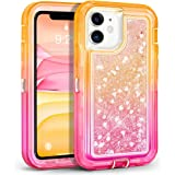 for iPhone 11 Phone Case, MAXCURY Girls Heavy Duty Shockproof Full Body Protection Hybrid Hard PC + Soft Gradient TPU Infused