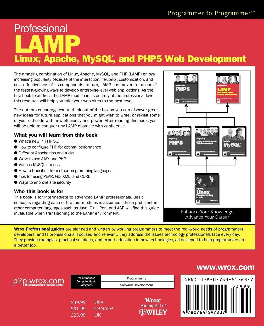 Buy Professional LAMP: Linux, Apache, MySQL and PHP5 Web Development