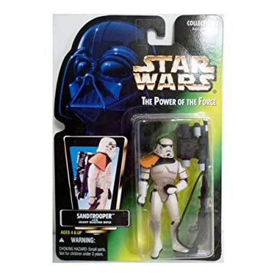 Star Wars A New Hope Power of the Force POTF2 Collection 1 Sandtrooper with Heavy Blaster Action Figure [Hologram Card]: Toys & Games