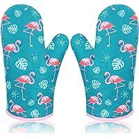 Dubbele Ovenhandschoenen, Ovenwanten van Katoen Isolatie Bakhandschoenen Antislip Oven Handschoenen met Zachte Katoen…