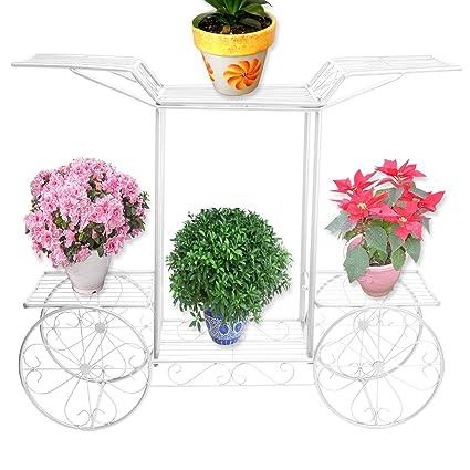 De Metal color blanco árbol de pantalla para carrito de diseño de flores diseño con texto