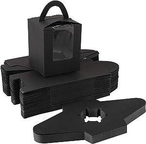 Cupcake Boxes Individual Black, Eusoar 50pcs 3.6