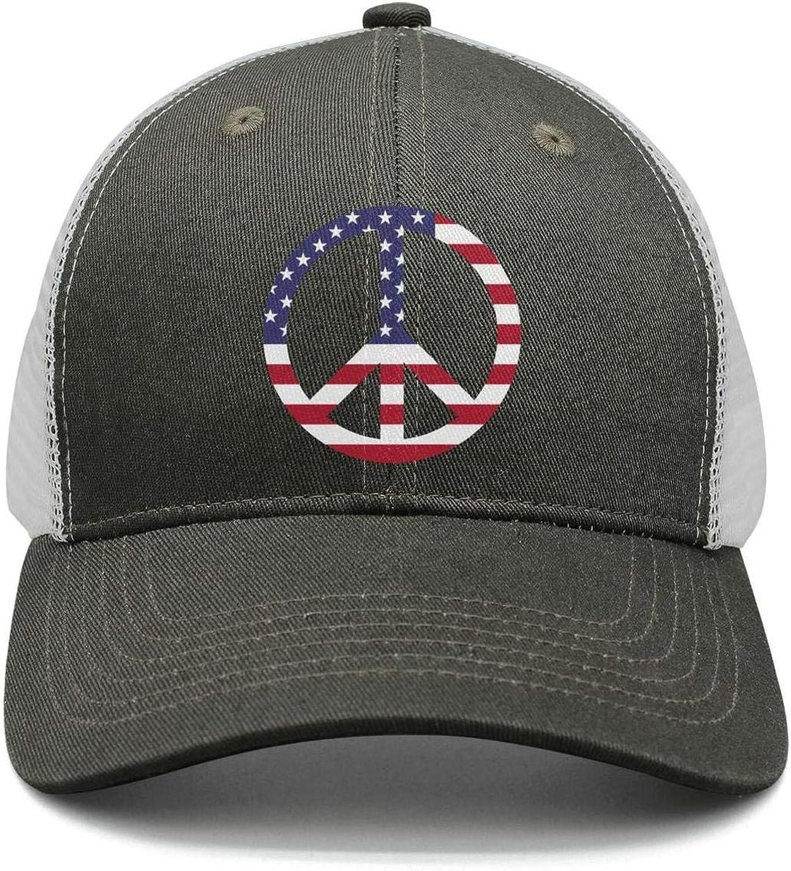 TopCrazy American Flag Peace Sign Baseball Caps Men//Women Fashion Sports Cap