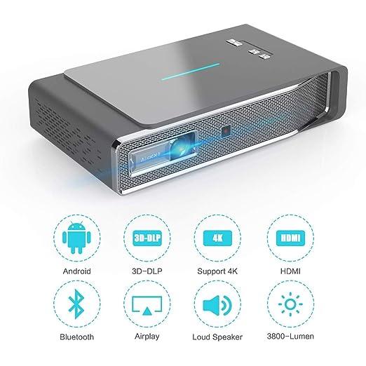 Androide Elegante proyector de Cine en casa WiFi LED ...