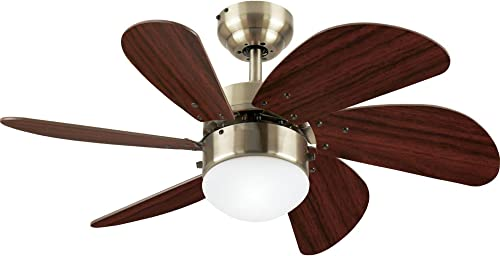 Westinghouse Lighting 7824865 Turbo Swirl Single-Light 30-Inch Six-Blade Ceiling Fan
