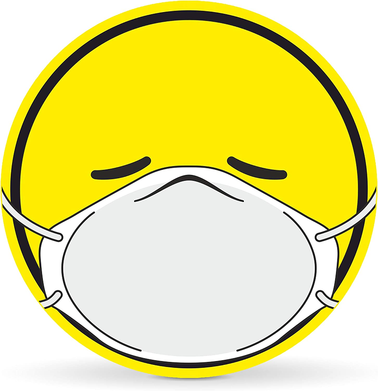 Sticker f/ür Autos Notebooks Laptop u.v.w. Betriebsausstattung24 Corona Emoji Schutzmaske Auto-Aufkleber Corona Smily Folie, 10,0 cm