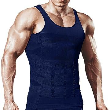 e6e0f8371928f4 HÖTER Mens Slimming Body Shaper Vest Shirt Abs Abdomen Slim (TOP Edition)