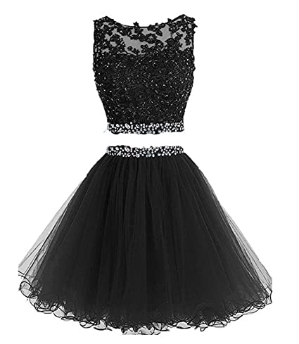 4206d71dbc Amazon.com: HeleneBridal Women's Two Pieces Short Prom Gowns Beaded  Homecoming Cocktail Dresses: Electronics
