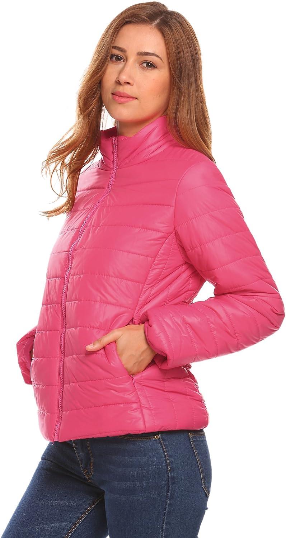 Zeagoo Womens Lightweight Packable Outwear Puffer Coat Short Jacket