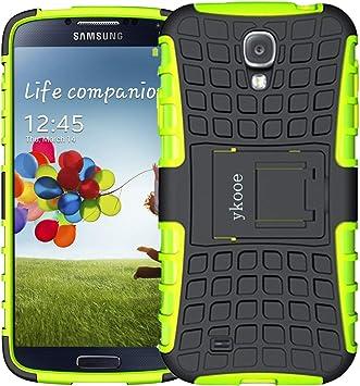 ykooe Funda para Galaxy S4, Híbrida de Doble Capa Silicona Carcasa ...