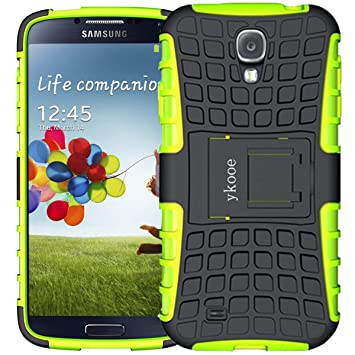ykooe Funda para Galaxy S4, Híbrida de Doble Capa Silicona Carcasa para Samsung Galaxy S4 Case – Verde