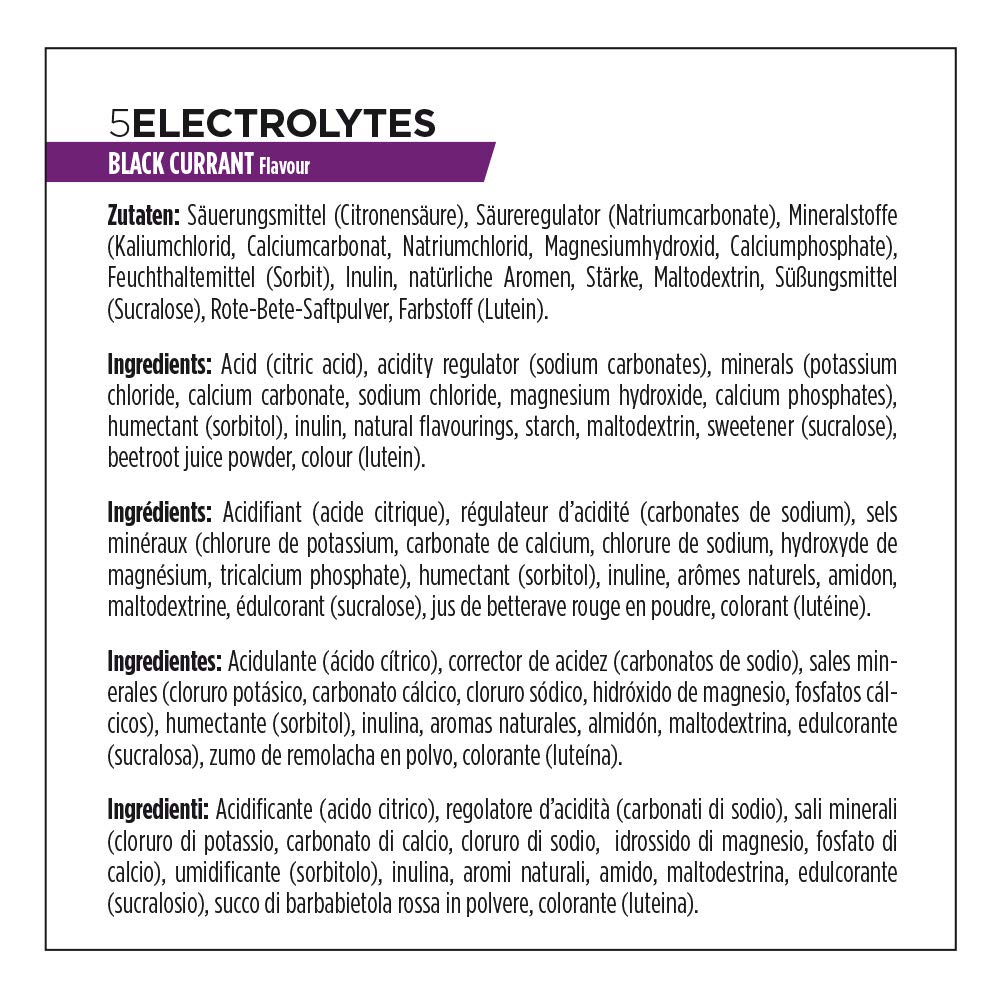 Powerbar 5 Electrolytes Sports Drink Black Currant - 12 Unidades: Amazon.es: Salud y cuidado personal