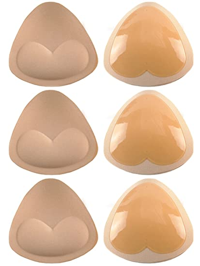 03877cc781 Image Unavailable. Image not available for. Color  Bra Pads - Bra Inserts  Womens Silicone Sticky Swim Sports Enhancers Self-Adhesive ...