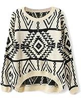 Y-BOA 1PC pull vêtement style de nordique en coton et mélange carreaux épais souple d'automne et hiver femme rendez-vous ,pique-nique 4couleurs