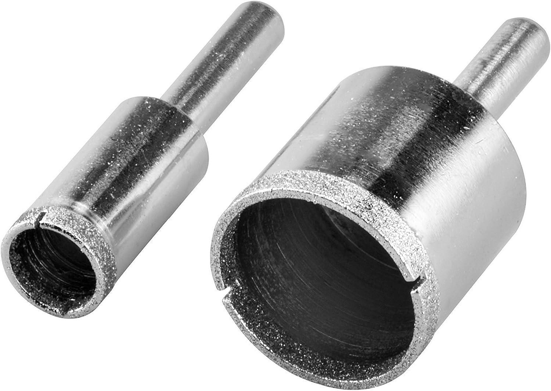 "New 2pc Diamond Hole Saw Set Grit 80 Size 1/"" and 1//2/"" Diameter 1//4/"" Shank"