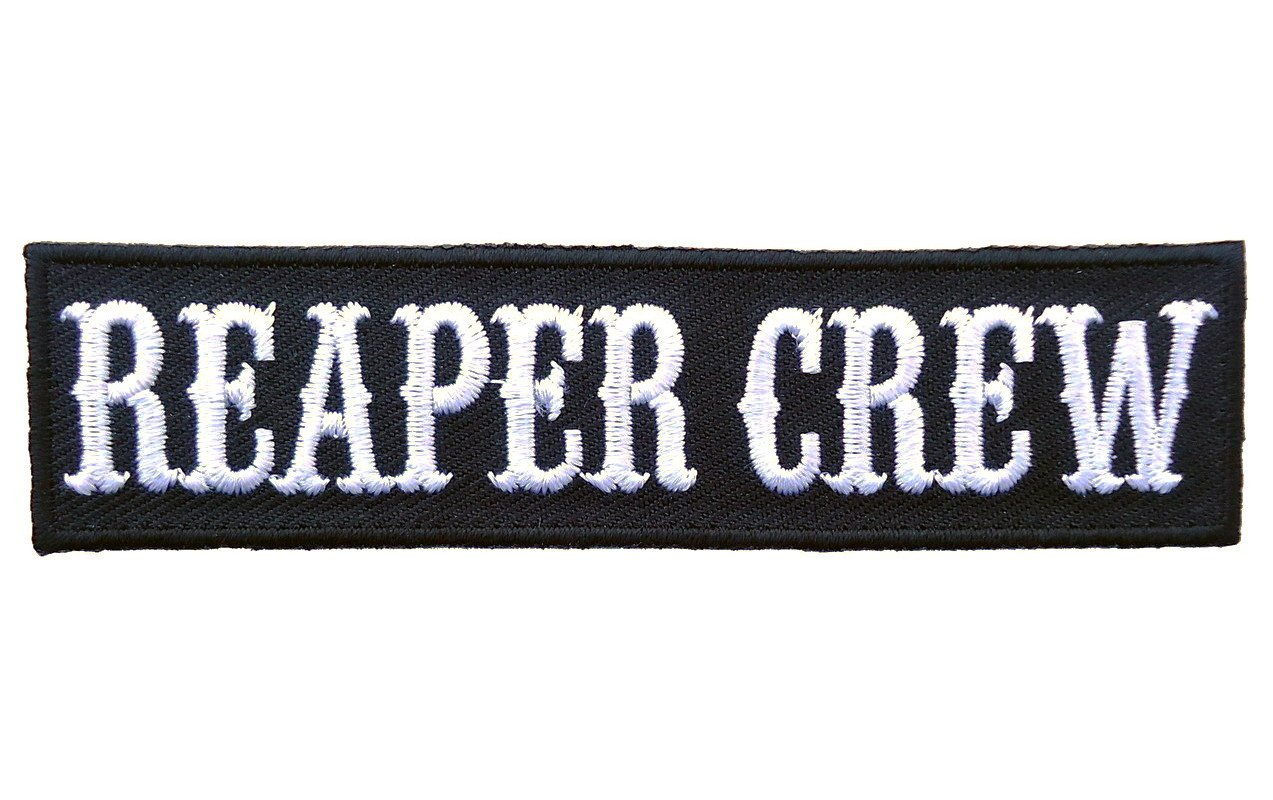 Black Reaper Crew Outlaw Biker Opie Jacket Beanie Patch