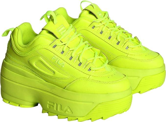 Fila Disruptor II Zapatillas de cuña para Mujer, Color Amarillo