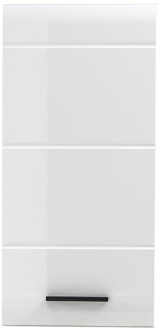 Trendteam 1116 501 01 Badezimmer Hängeschrank, Wandschrank Skin Gloss, 30 X  77