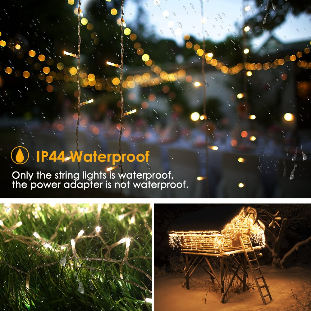 GDEALER 300 Led Window Curtain Lights with Timer,Remote Control String Lights Fairy Lights for Wedding Party Bedroom,6.6x6.6ft Hanging Lights Twinkle Lights Christmas Lights Wall Decor Warm White by GDEALER (Image #5)