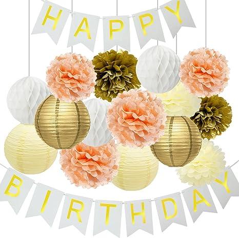 Decoraciones de fiesta de cumpleaños pancarta de feliz ...