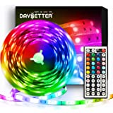 Daybetter Led Strip Lights Flexible Color Changing Led Lights 5050 RGB Led Light Strips Kit with Remote and Power Supply for
