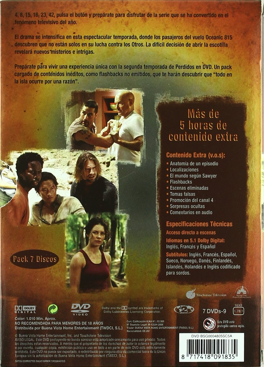 Amazon.com: Perdidos (2ª Temporada) (Import Movie) (European Format - Zone 2) (2006) Matthen Fox; Evangeline Lilly; Ter: Movies & TV